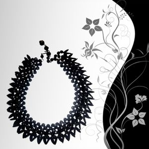 Unconventional Black Beaded Choker.